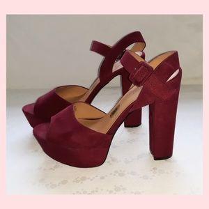 Nine West Peep Toe Platform Sandals Shoes